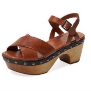Schutz Esme mules clogs platforms brown & black
